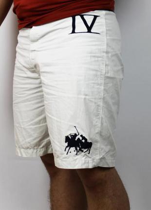 Белые пляжные шорты polo ralph lauren с большой надписью и бол...