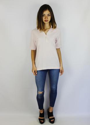 Bogner женская поло футболка нежно розового цвета с кармашками
