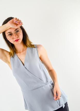 New look блузка, блуза без рукавов на запах
