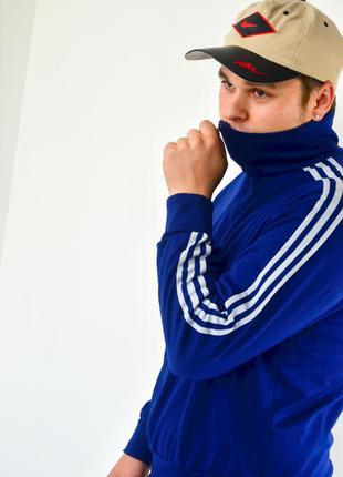 Adidas тёмно-синяя спортивная куртка на молнии из 80-х, олимпи...