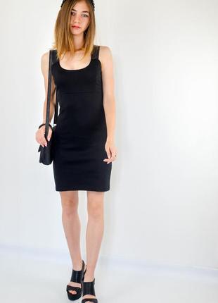 Troll черное платье-футляр с круглым вырезом