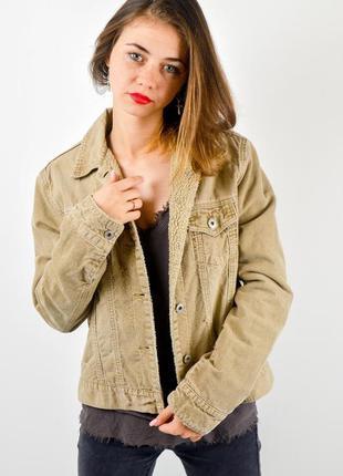 Marks&spencer вельветовая куртка с рваностями и потертостями, ...