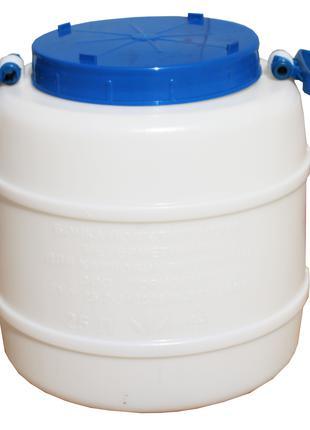 Бидон пищевой пластмассовый, 25 л. Горловина 220 мм.