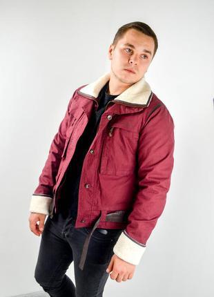 Helly hansen бордовая джинсовая куртка со съемной подкладкой, ...