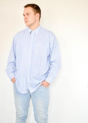 Yves saint laurent классическая голубая рубашка в полоску, сор...