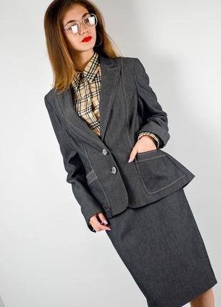 F&f костюм двойка: приталенный блейзер и миди юбка, пиджак, жакет