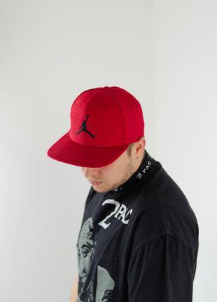 Nike jordan jumpman красная бейсболка, кепка без регулировки