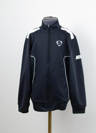 Nike fitdry спортивная черная кофта с контрастными вставками н...