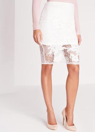 Идеальная кружевная юбка-карандаш длины миди от missguided