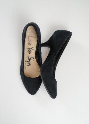 George черные туфли-лодочки на низком каблуке с заостренным но...