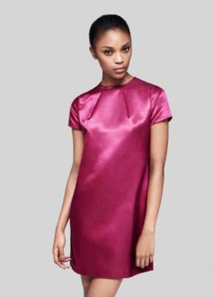 Шелковое яркое короткое мини платье, к новому году от fred per...