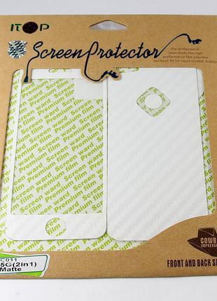 Виниловая наклейка для Apple iPhone 5/5S, ITOP, комплект, мато...