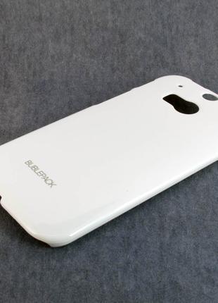 Чехол-накладка для HTC One 2, M8, пластиковый, Buble Pack, Бел...