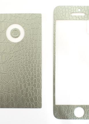 Наклейка для iPhone 5/5S/5SE, iTOP, Виниловая, комплект, матов...