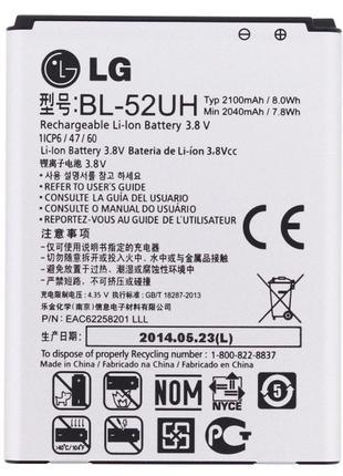 Аккумулятор LG BL-52UH, L65, L70, D280, D285, D320, D325, LG S...
