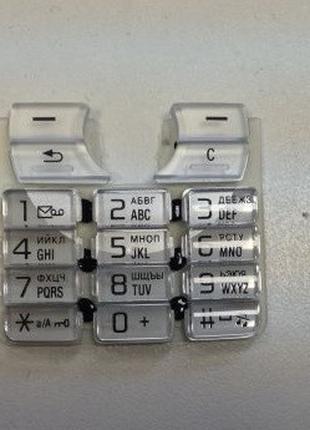 Клавиатура для Sony Ericsson K700i, High Copy, Серебристая