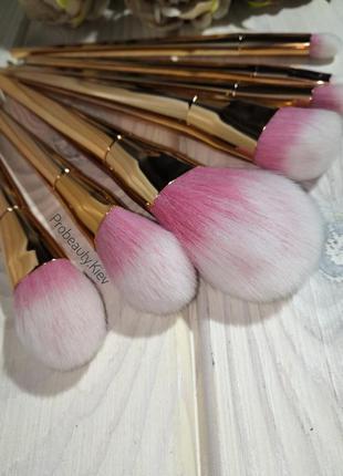 Кисти для макияжа gold/pink набор 7 шт probeauty