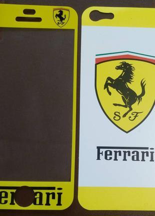 Виниловая наклейка для Apple iPhone 5/5S, комплект, Ferrari, Ж...