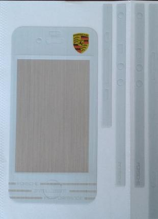 Виниловая наклейка для Apple iPhone 4/4S, комплект, Porsche, С...