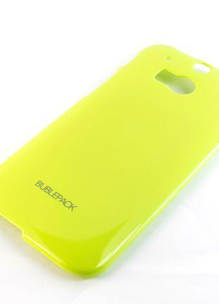 Чехол-накладка для HTC One 2, M8, пластиковый, Buble Pack, Лай...