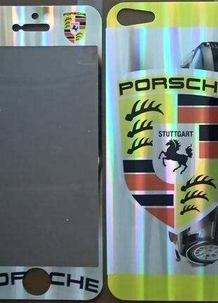 Виниловая наклейка для Apple iPhone 5/5S, комплект, Porsche, С...