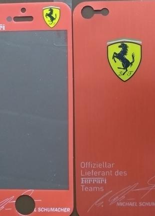 Виниловая наклейка для Apple iPhone 5/5S, комплект, Ferrari ne...