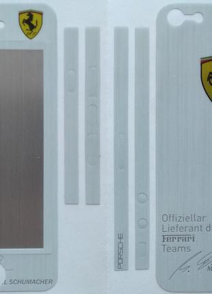 Виниловая наклейка для Apple iPhone 5/5S, комплект, Ferrari, С...