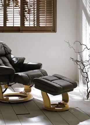 Кресло Relax Кожаное кресло реклайнер для дома и офиса