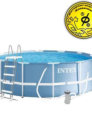 Каркасный круглый бассейн Intex 26718 366 x 122 см