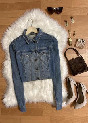 Актуальная укороченная джинсовая курточка №29max