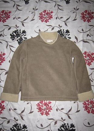 Теплый свитер пуловер свитшот под цигейку