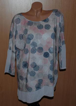 Блуза двухфактурная принтованая бренда phase eight / с ассиме...