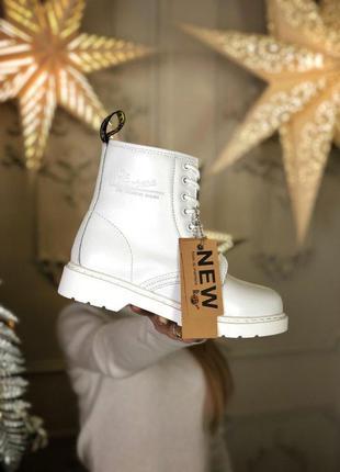 Чудесные женские зимние кожаные ботинки/ сапоги dr. martens mo...