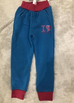 Спортивные штаны на девочку утепленные
