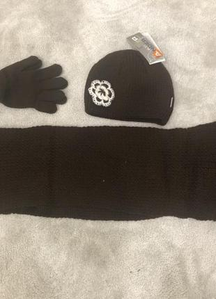 Набор шапка + шарф + перчатки