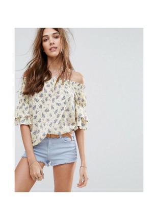Цветастая легкая блузочка блузка new look. р. s/44