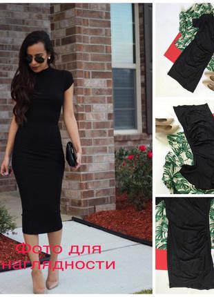 Шикарное нарядное чёрное платье h&m s