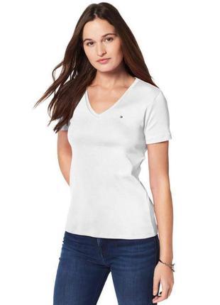 Фирменная серая футболка tommy hilfiger m-l