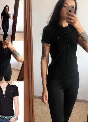 Бесплатная доставка! чёрная поло футболка ralph lauren