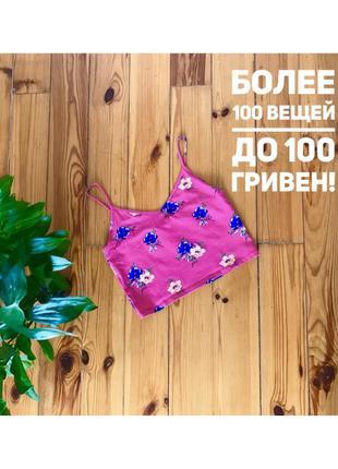 Яркая майка маечка new look  в цветы топ. размер 14/42