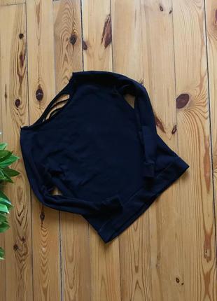 Классный чёрный свитшот толстовка atm с красивой спинкой