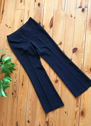 Стильные классические  брюки клёш в полоску new look