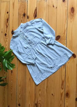 Распродажа! красивая длинная рубашка блуза с перфорацией.s