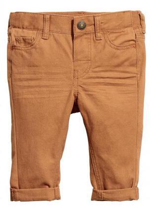 Хлопковые брюки из твила
