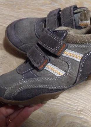 Туфли-кроссовки 30 р. стелька 19 см. замша