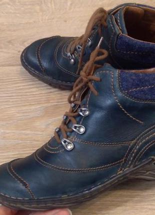 Ботинки демисезонные josef seibel 40 р.кожа стелька 25.5 см.