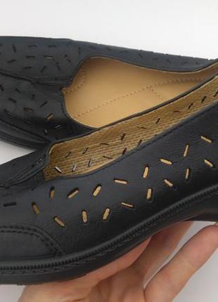 Летние туфли hotter с перфорацией 37-37.5 р.