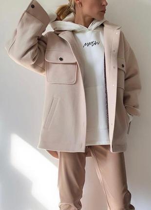 Женская рубашка -пальто