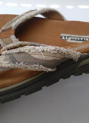 Шлепанцы вьетнамки skechers relaxed fit 44 р.
