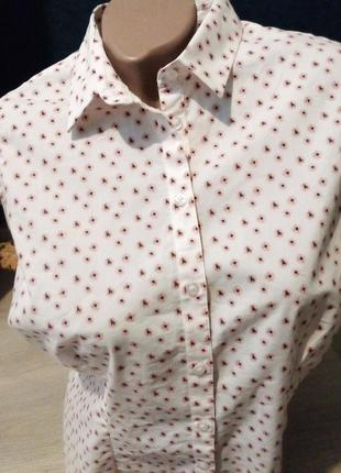 Брендовая рубашка без рукав marks & spencer